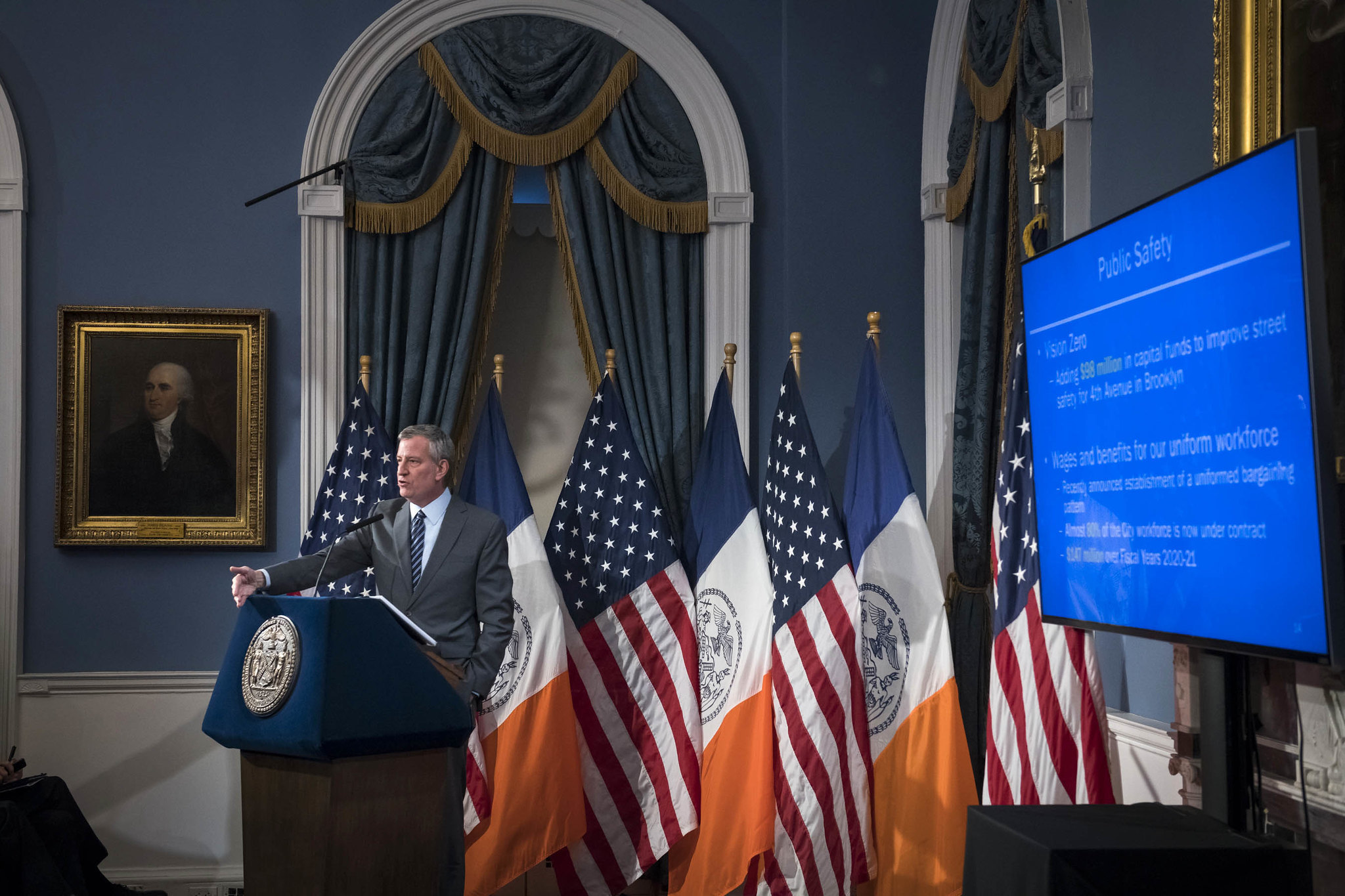 Slow your roll: De Blasio's new budget restrains spending, but payroll keeps growing