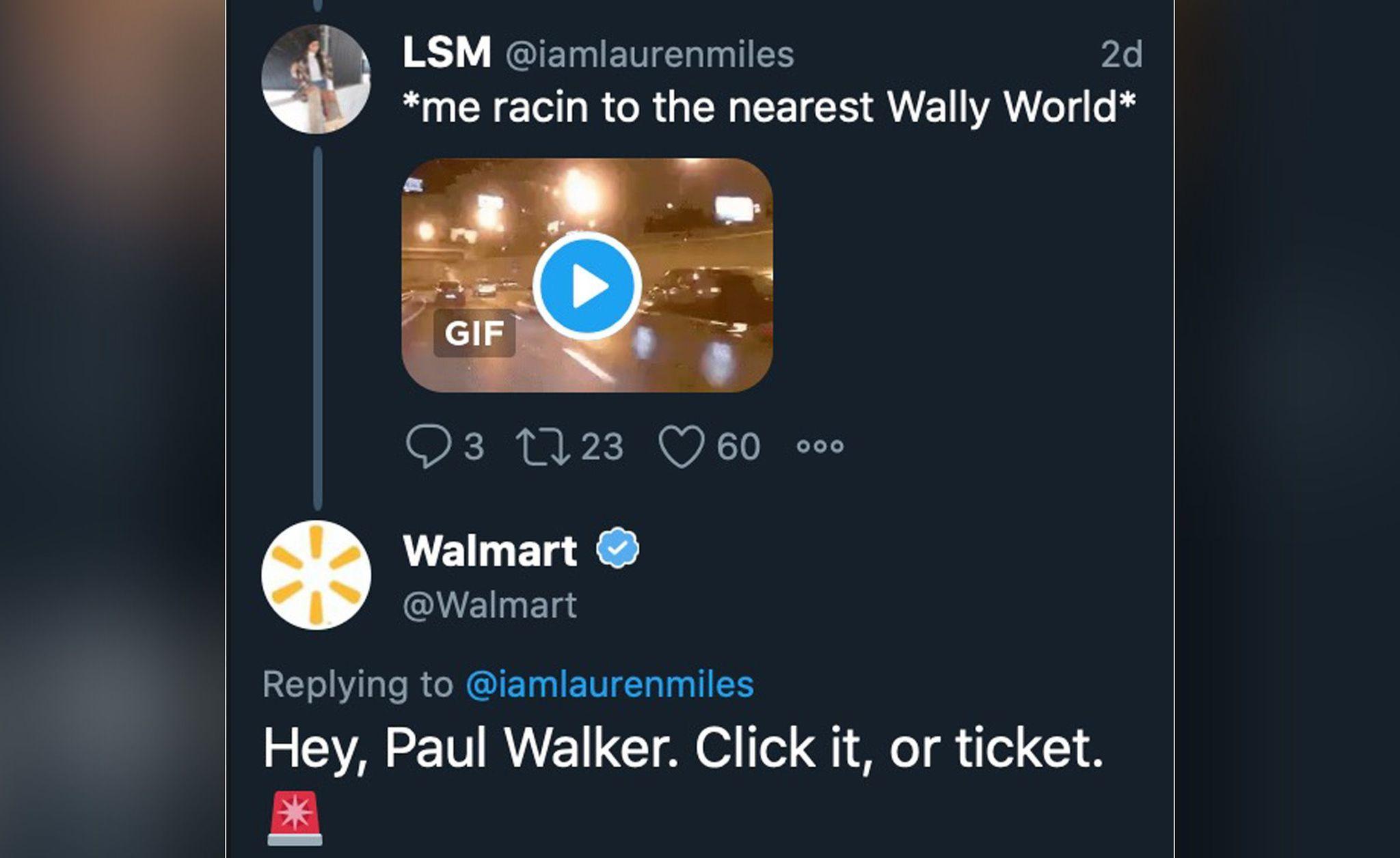 Walmart apologizes for joke tweet about Paul Walker speeding