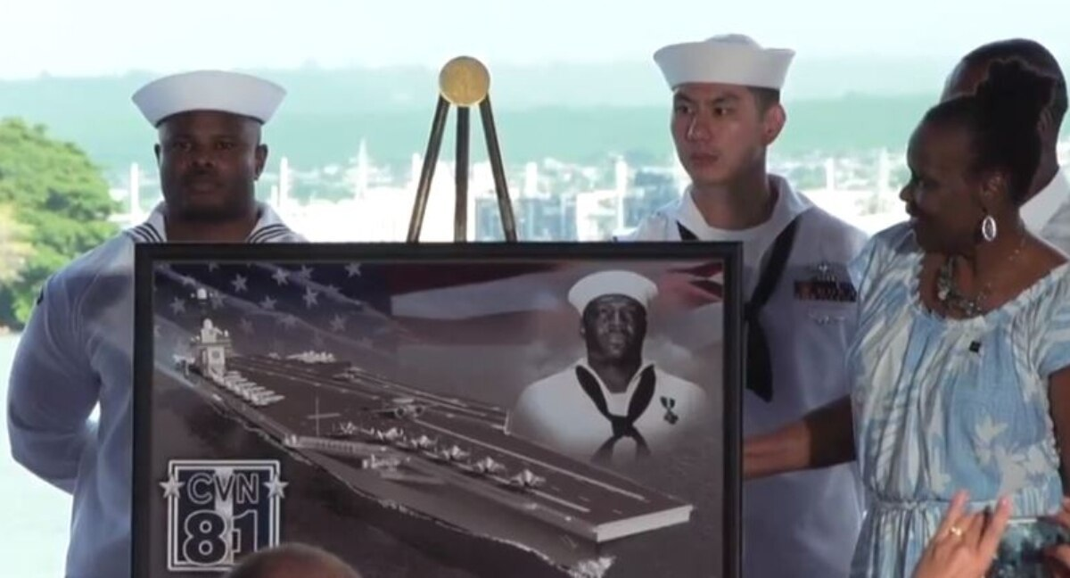For first time, Navy names new aircraft carrier after African-American hero