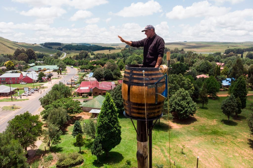 South African man breaks his own record for most time spent in barrel
