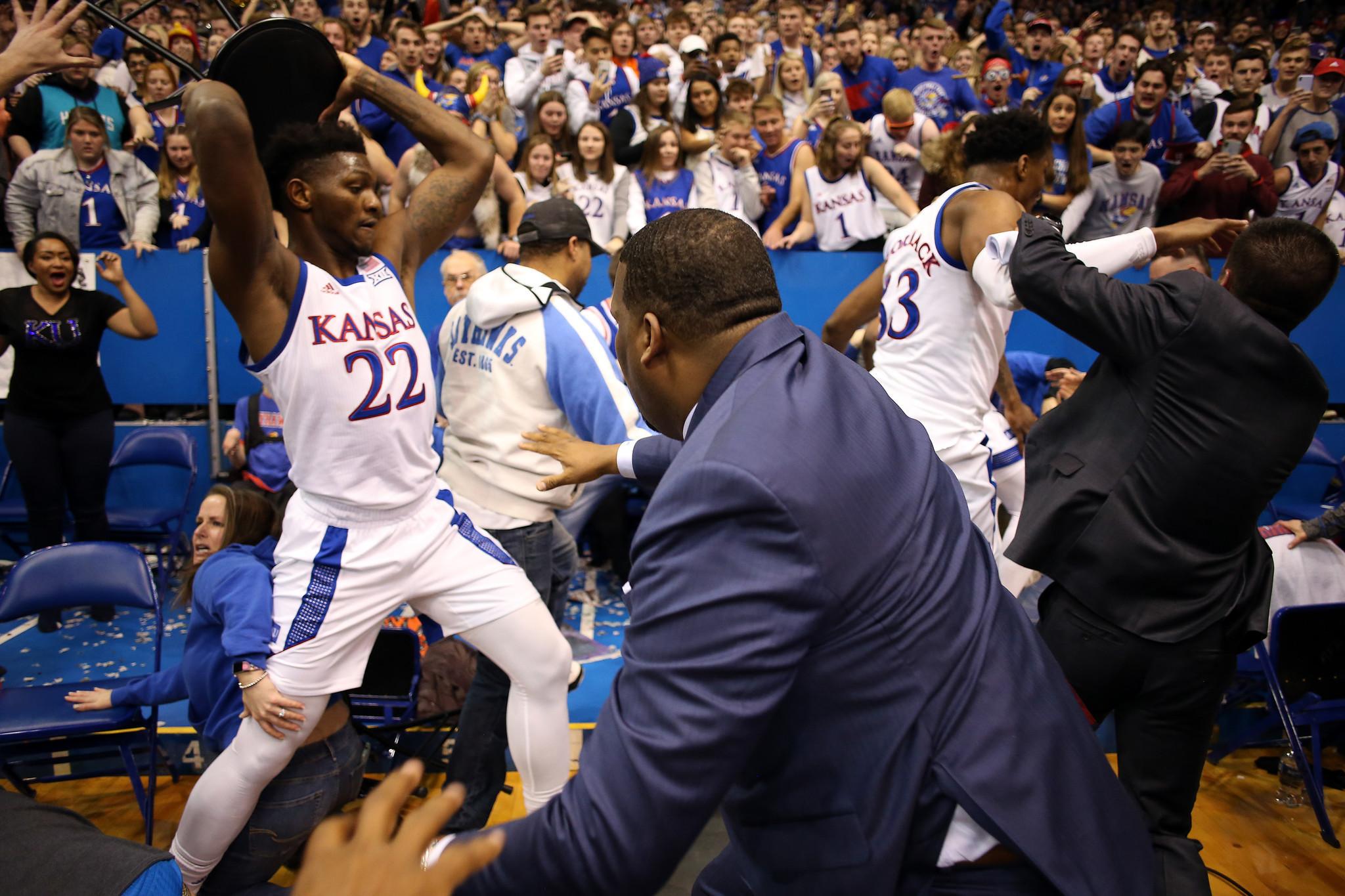 Kansas suspends Silvio De Sousa indefinitely over role in ugly brawl vs. Kansas State