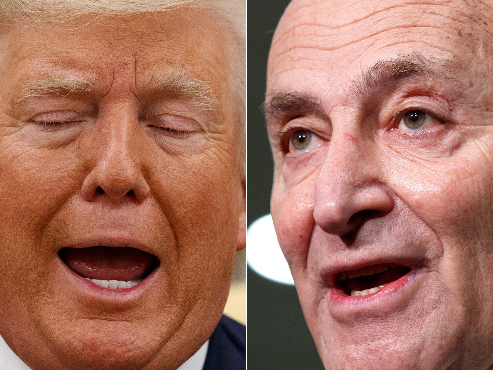 Trump slams 'Cryin' Chuck' Schumer for irking GOP senators in impeachment battle
