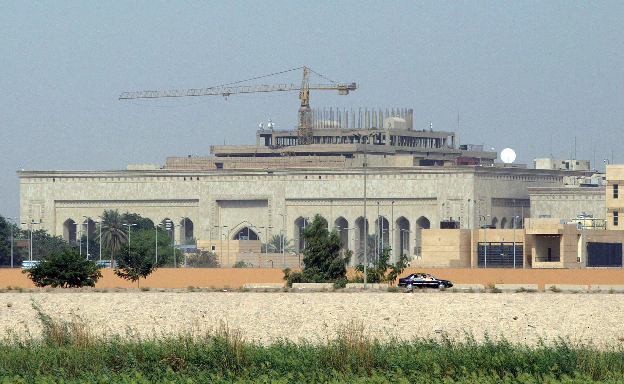 Rocket slams into U.S. Embassy dining hall in Baghdad