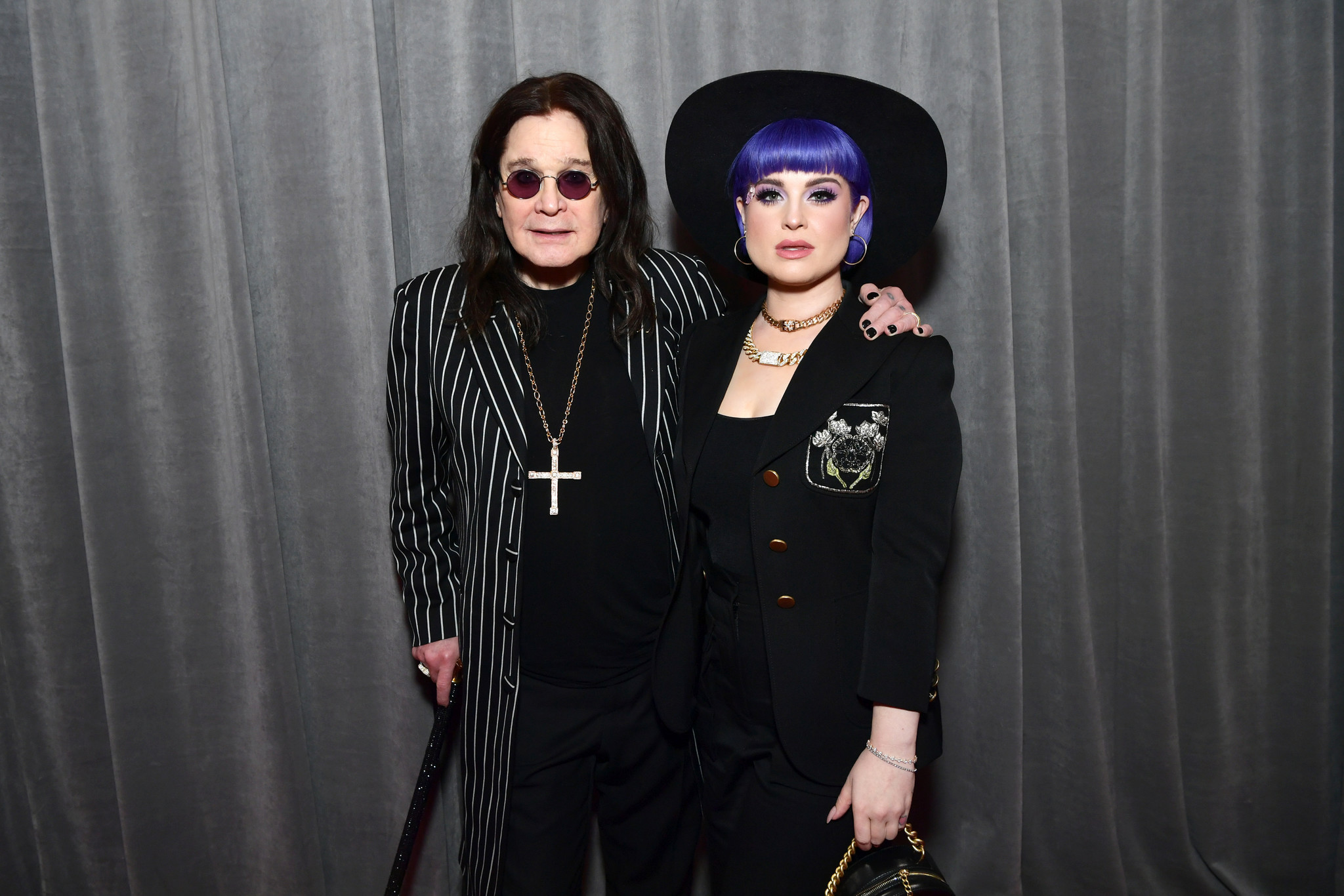Ozzy Osbourne attends Grammys with cane days after revealing Parkinson's diagnosis