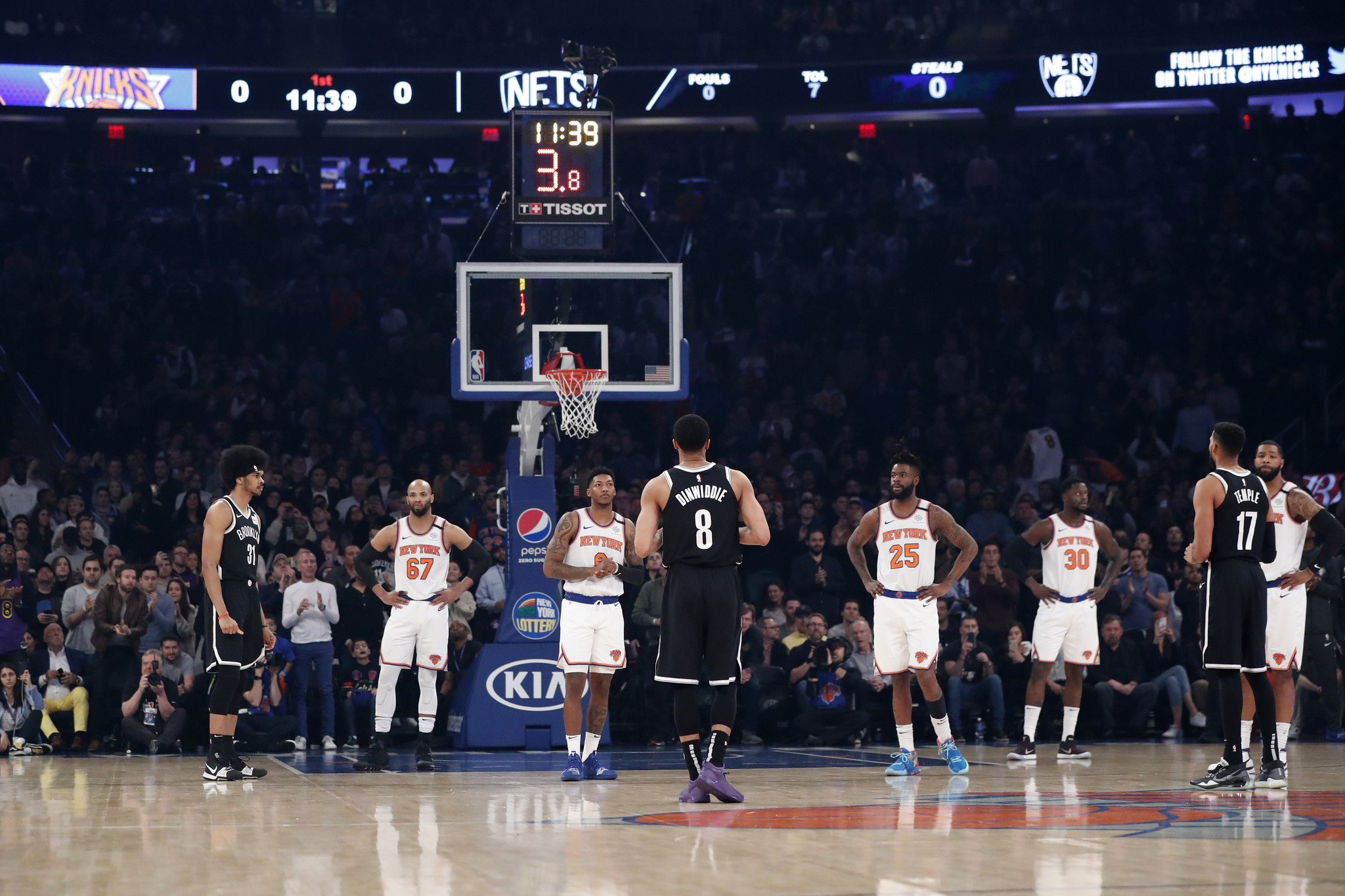 Knicks top Nets as Kobe Bryant's death casts somber mood over Madison Square Garden
