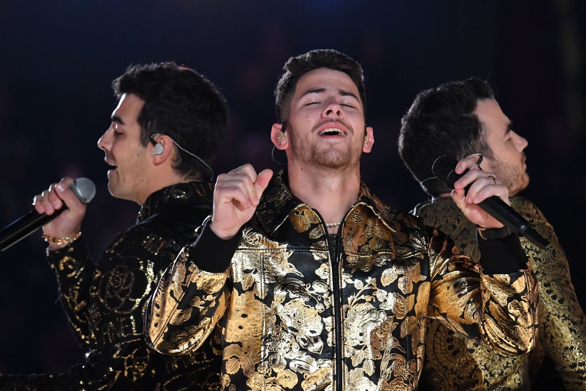 Nick Jonas performed at the Grammys with food in his teeth – and made fun of himself afterward