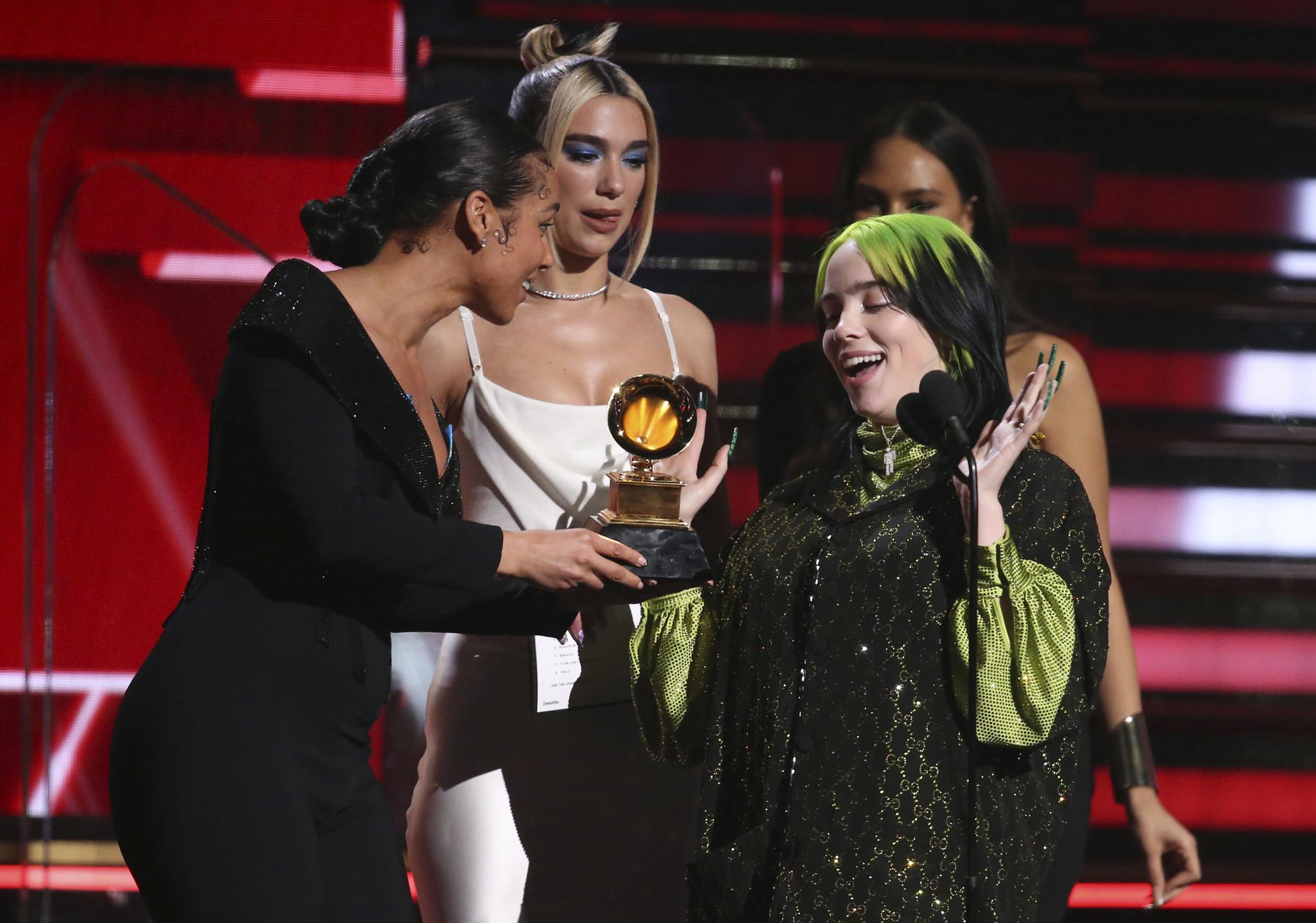 Billie Eilish wins top four awards at Grammys, including Best New Artist