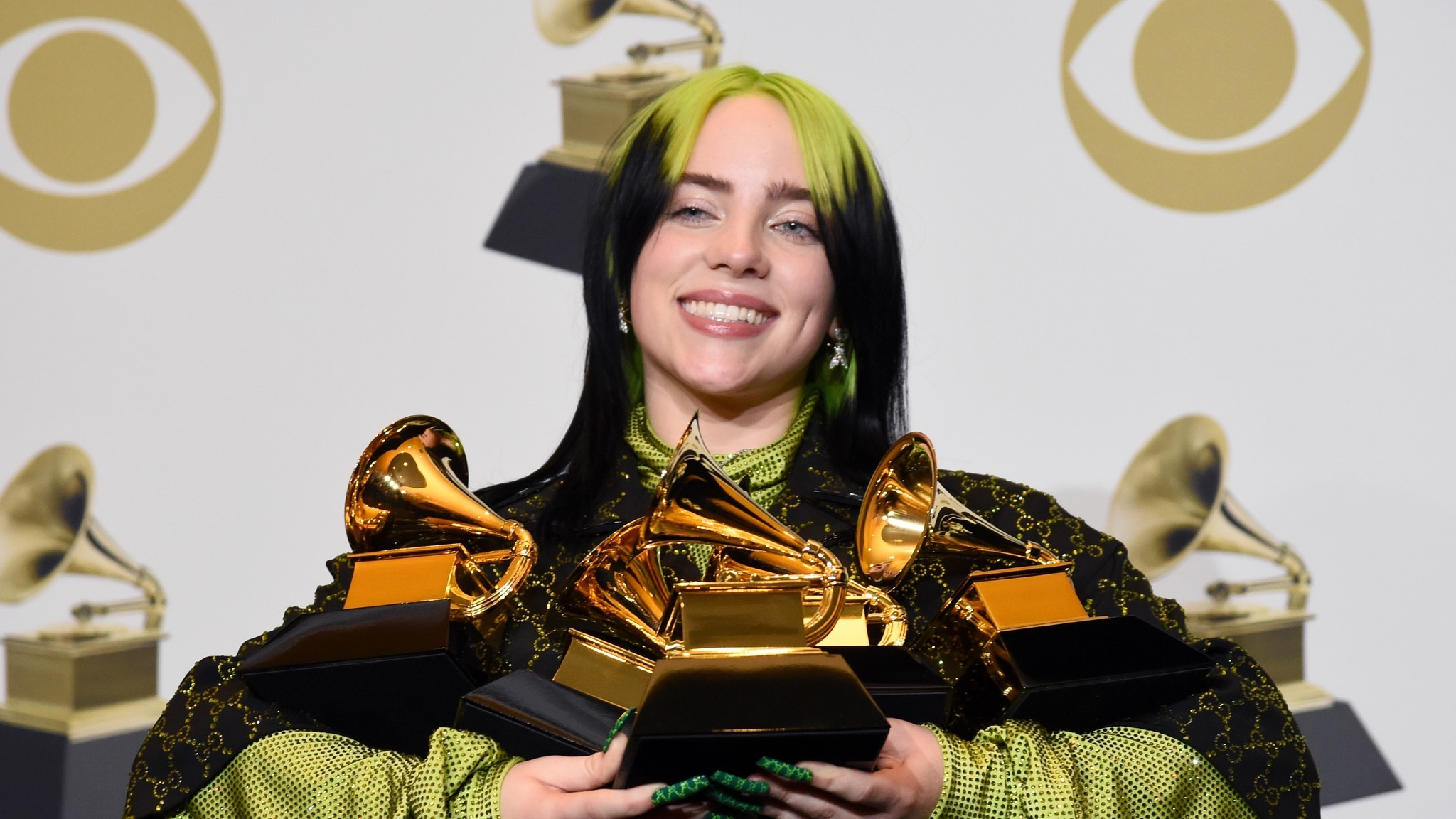SEE IT: Billie Eilish says 'please don't be me' before she's announced winner of Album of the Year at Grammys