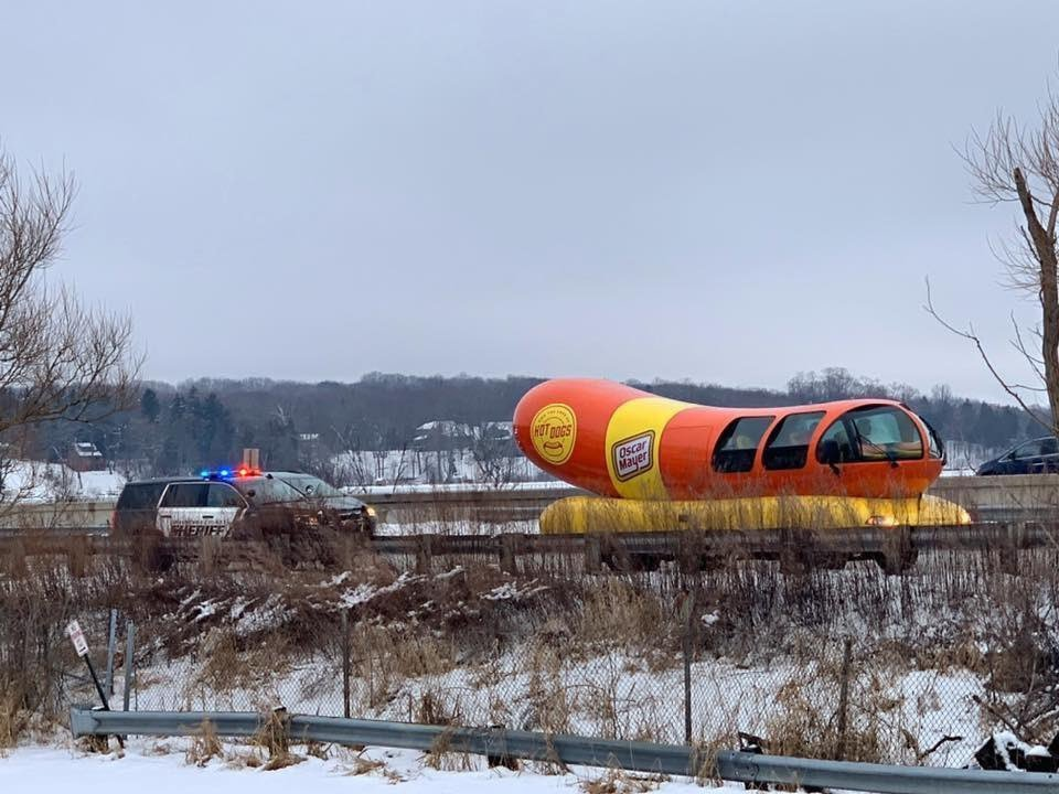 Oscar Mayer Wienermobile gets in hot water with cops for breaking Move Over Law