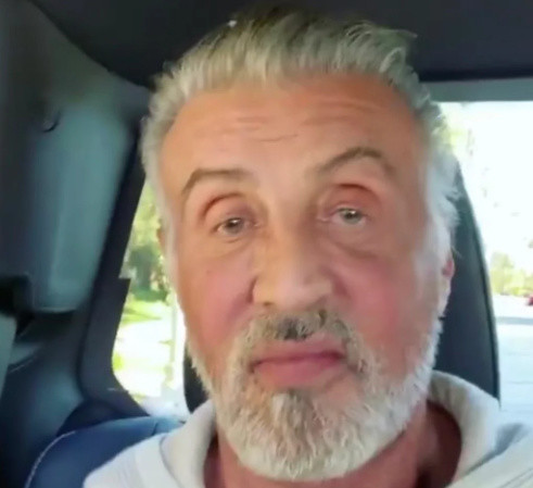 SEE IT: Sylvester Stallone shows off natural gray hair