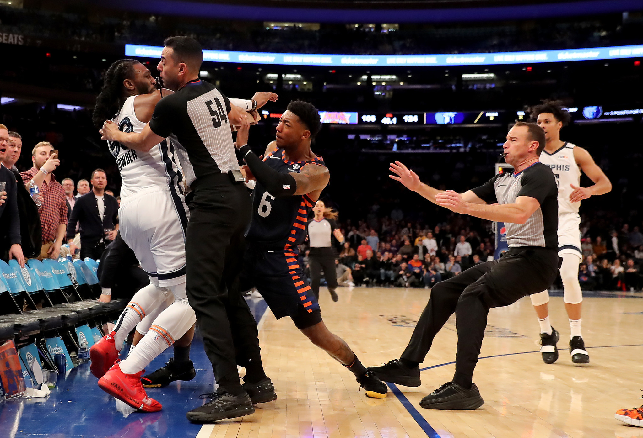 Knicks G Elfrid Payton suspended 1 game for role in Wednesday night's fight, Marcus Morris fined $35k: report