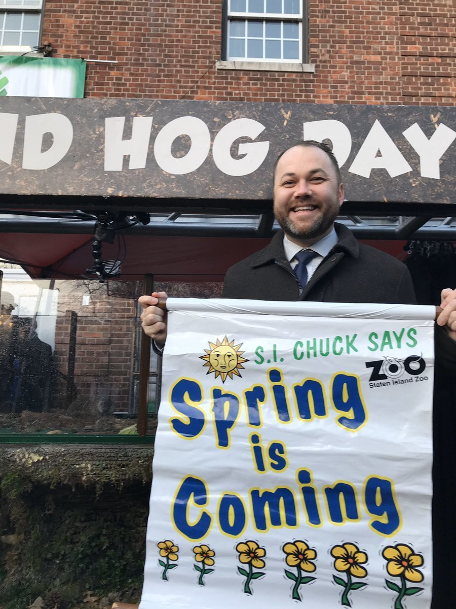 Staten Island Chuck predicts early spring on Groundhog Day