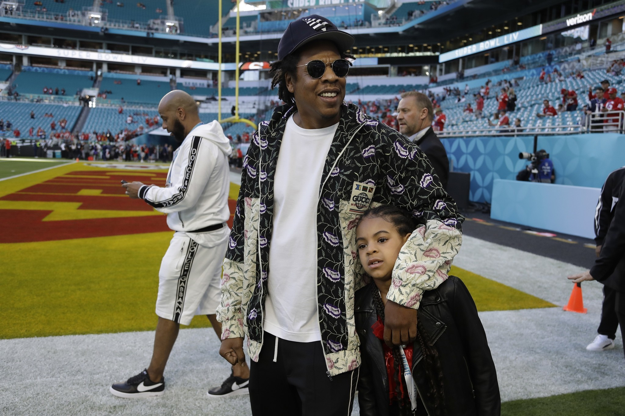 Jay-Z and Beyonce stay seated for national anthem at Super Bowl