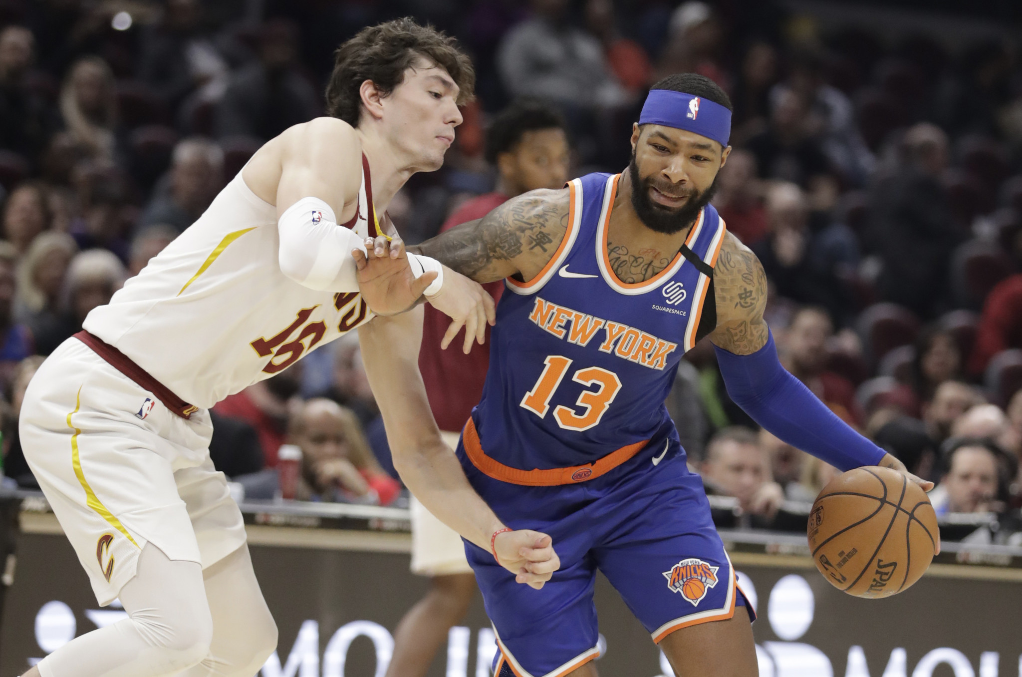 Marcus Morris carries Knicks to overtime win against Cavs