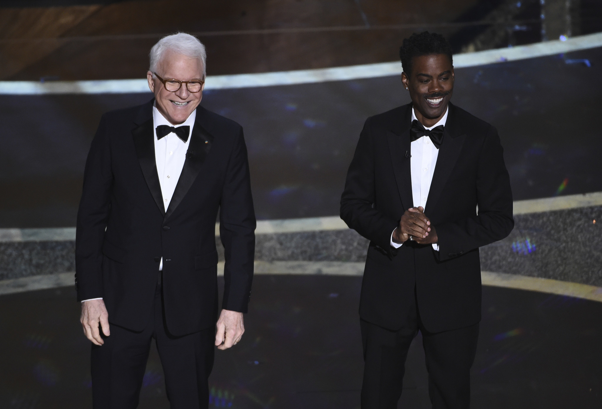Chris Rock and Steve Martin roast the Oscars during hilarious early segment
