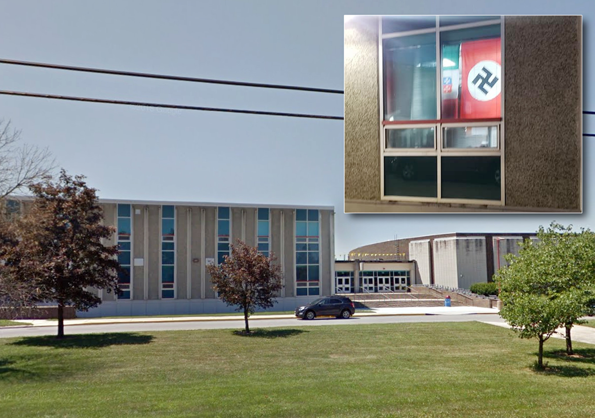 School officials apologize after Nazi flag hanging from classroom window draws outrage
