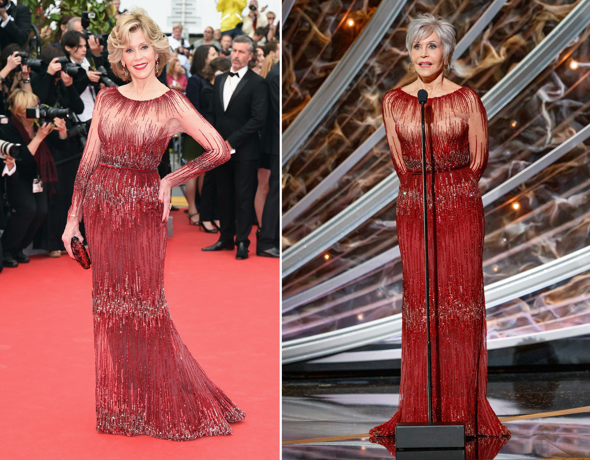 Jane Fonda recycles 6-year-old gown at Oscars