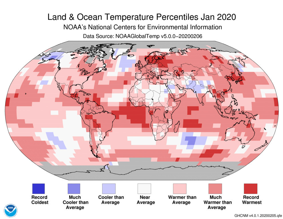 January was the hottest month in recorded history: NOAA