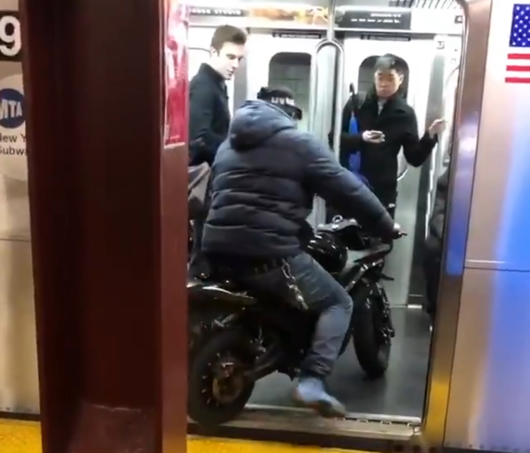 Video of motorbike gang boarding NYC subway spurs police investigation