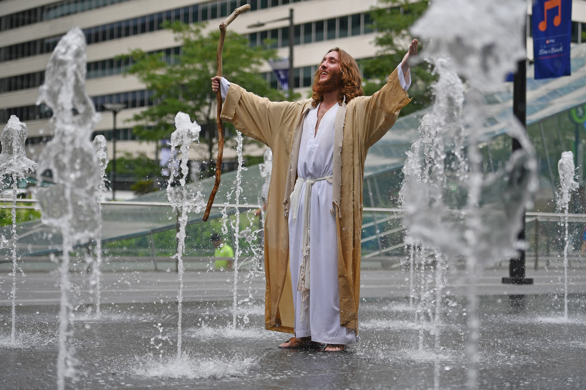 Cops refuse to forgive Philly Jesus his trespass at church