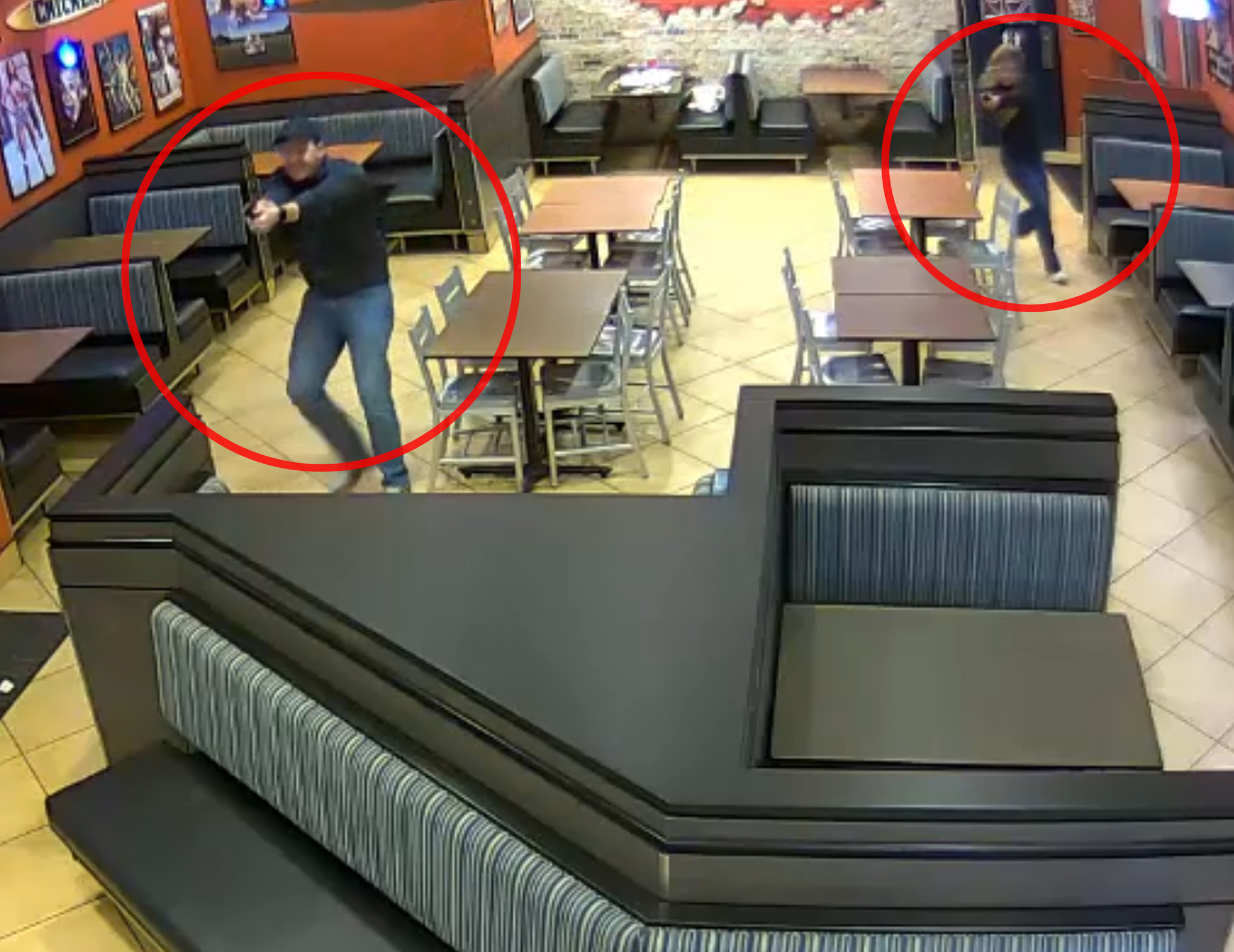SEE IT: Dramatic footage shows newlywed cops interrupt their date night to break up an armed robbery