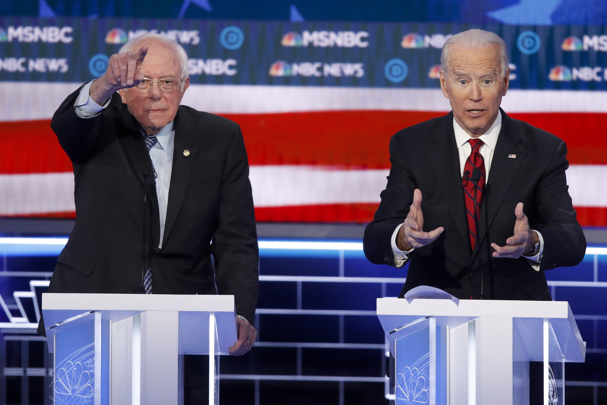 Sanders gears up for rough-and-tumble Democratic debate as Biden faces make-or-break moment