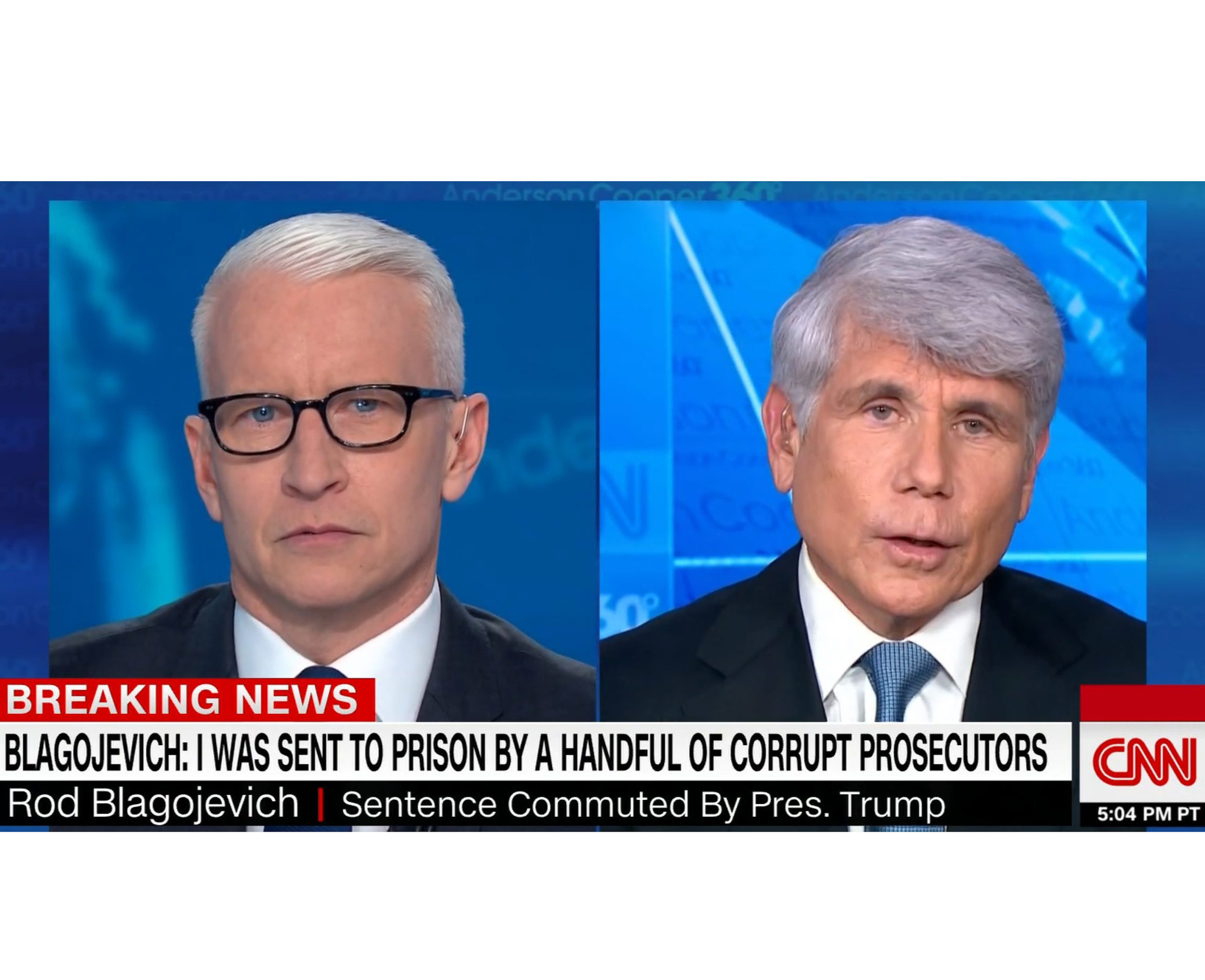 SEE IT: Anderson Cooper calls 'bull----' on several Rod Blagojevich claims