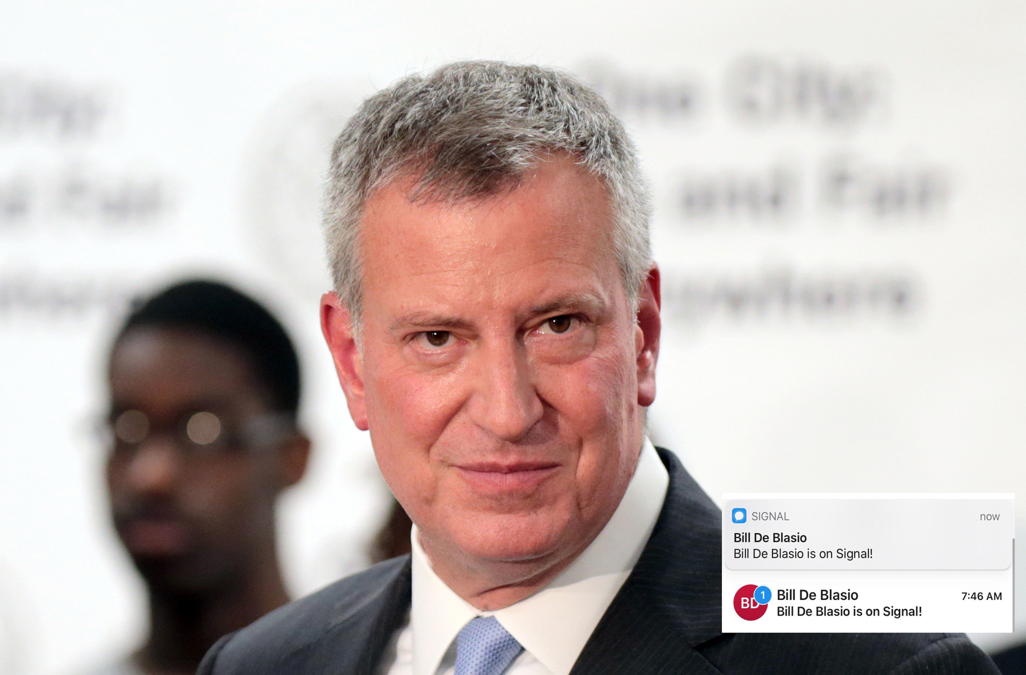 Mayor de Blasio joins encrypted messaging app Signal, raising legal and ethical questions