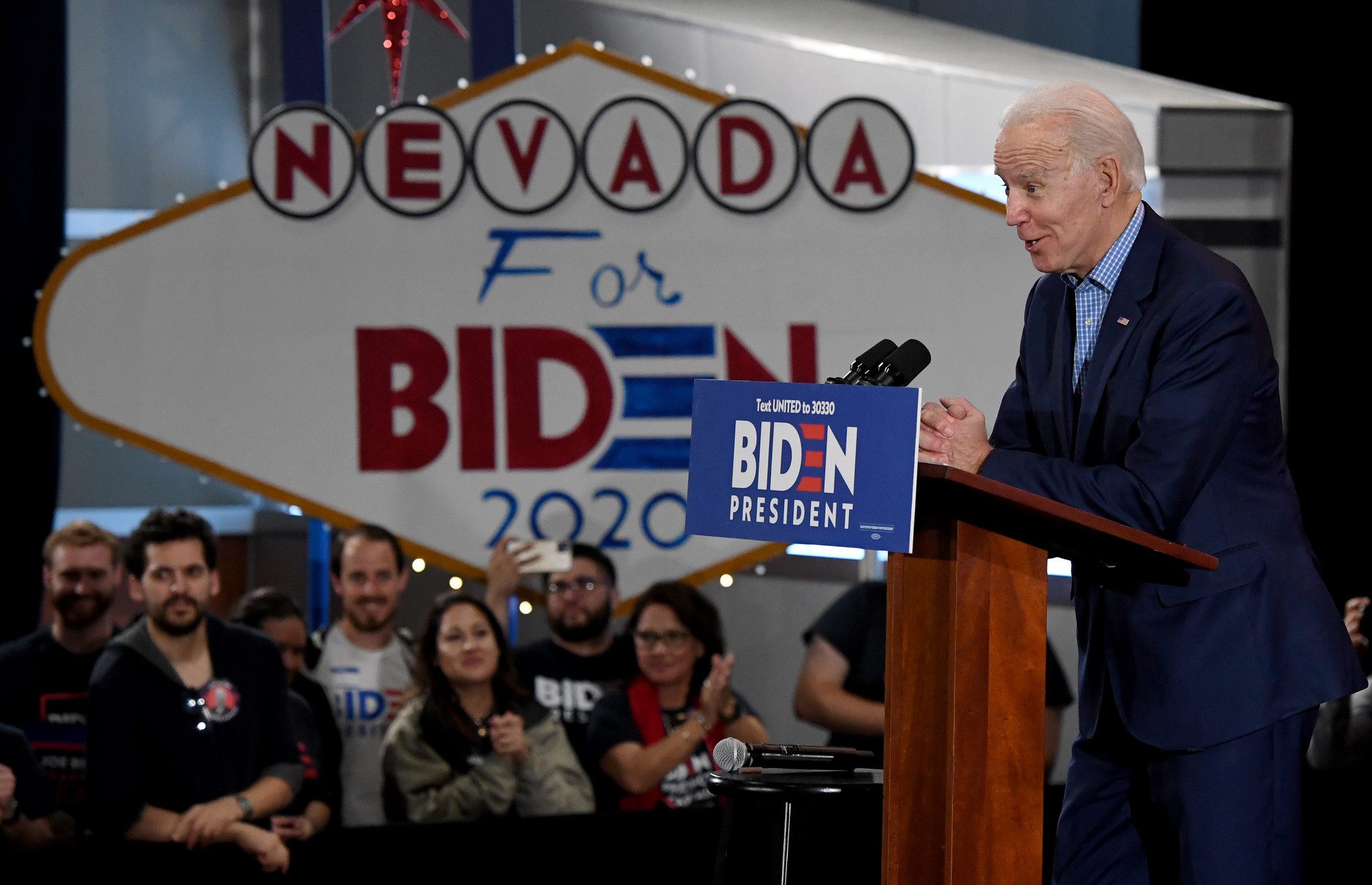Joe Biden tries to show confidence as poll shows him losing ground in South Carolina