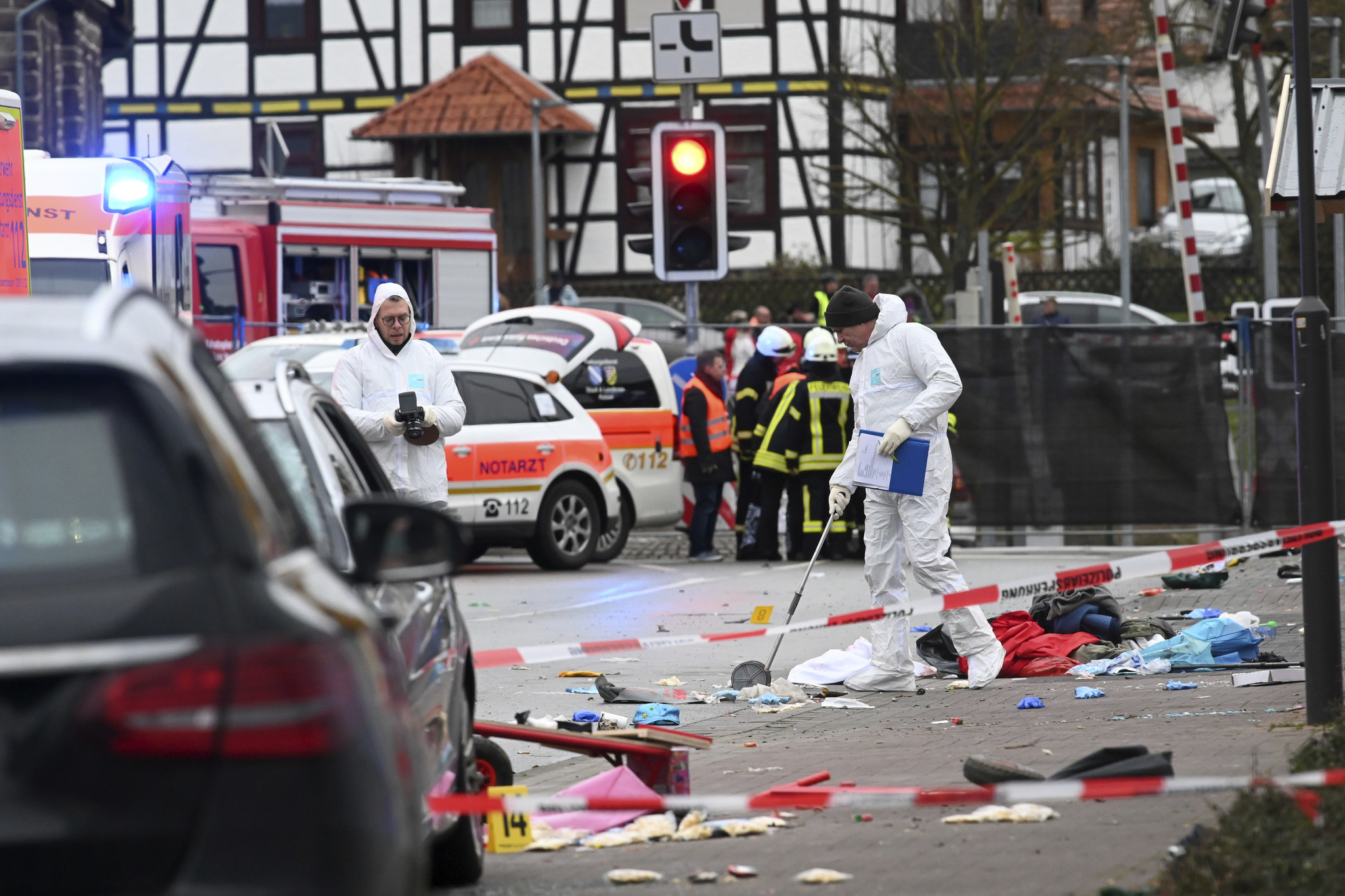 Dozens of people hurt after car plows into crowd during Carnival parade in Germany