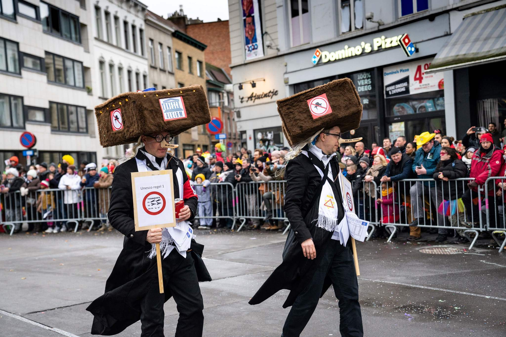 Belgian carnival features revelers marching in Nazi uniforms and mocks Orthodox Jews