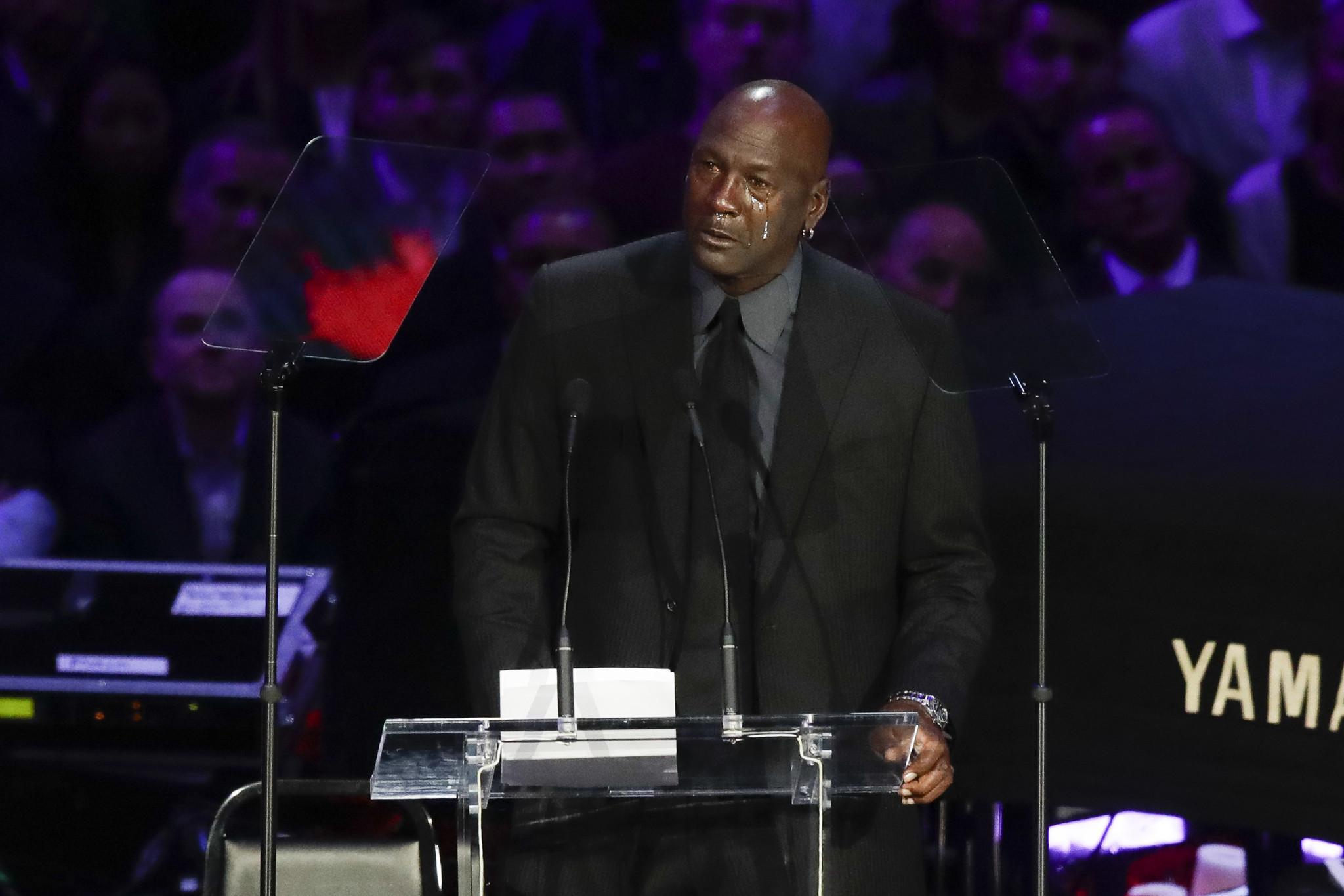 Michael Jordan breaks down at Kobe Bryant memorial, laments generating 'another crying meme'