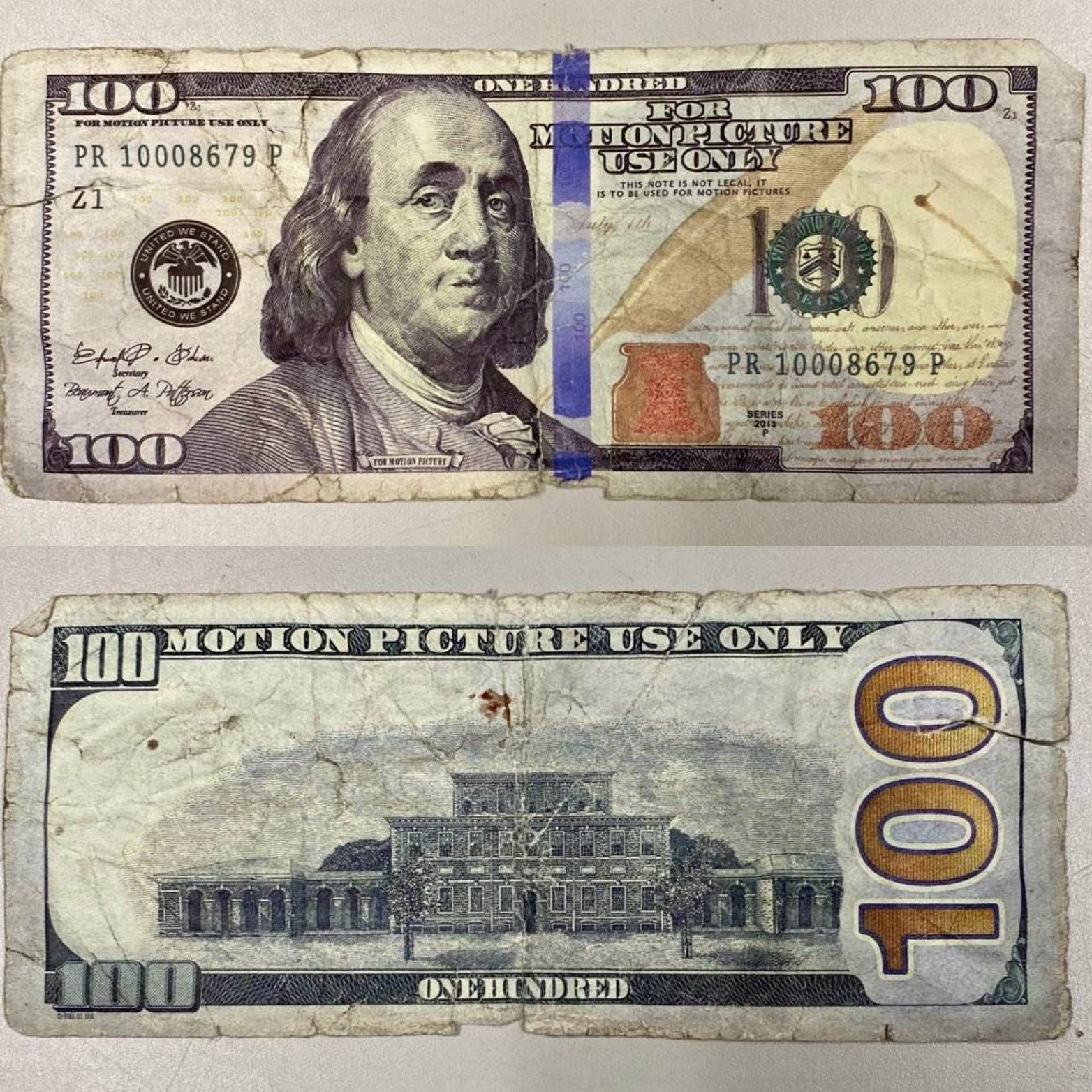 New Jersey man used fake $100 bill with 'For Motion Picture Use Only' on it to pay clerk at gas station: cops