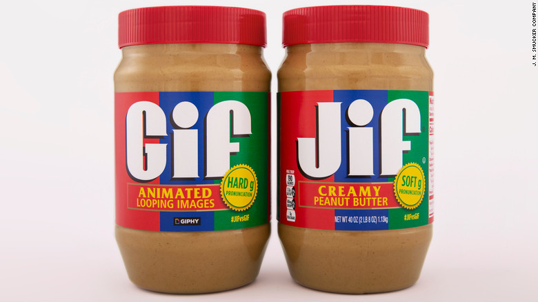Jif peanut butter and GIPHY team up to figure out how to pronounce 'GIF'