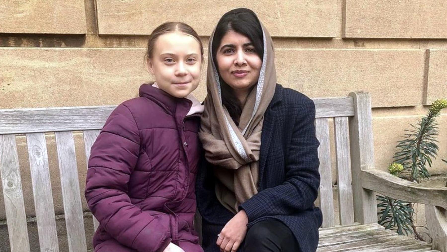 Greta Thunberg talks activism with Malala Yousafzai at Oxford