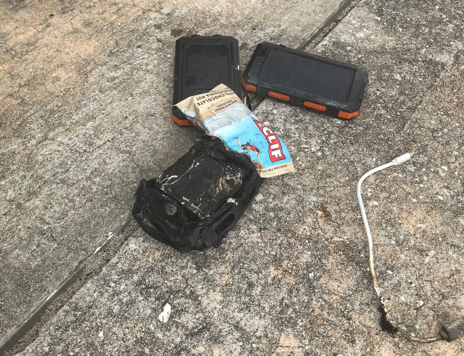 United flight makes emergency landing after cellphone charger catches fire in passenger's bag