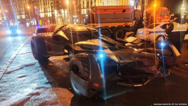 Oversized Batmobile towed in Moscow, authorities say