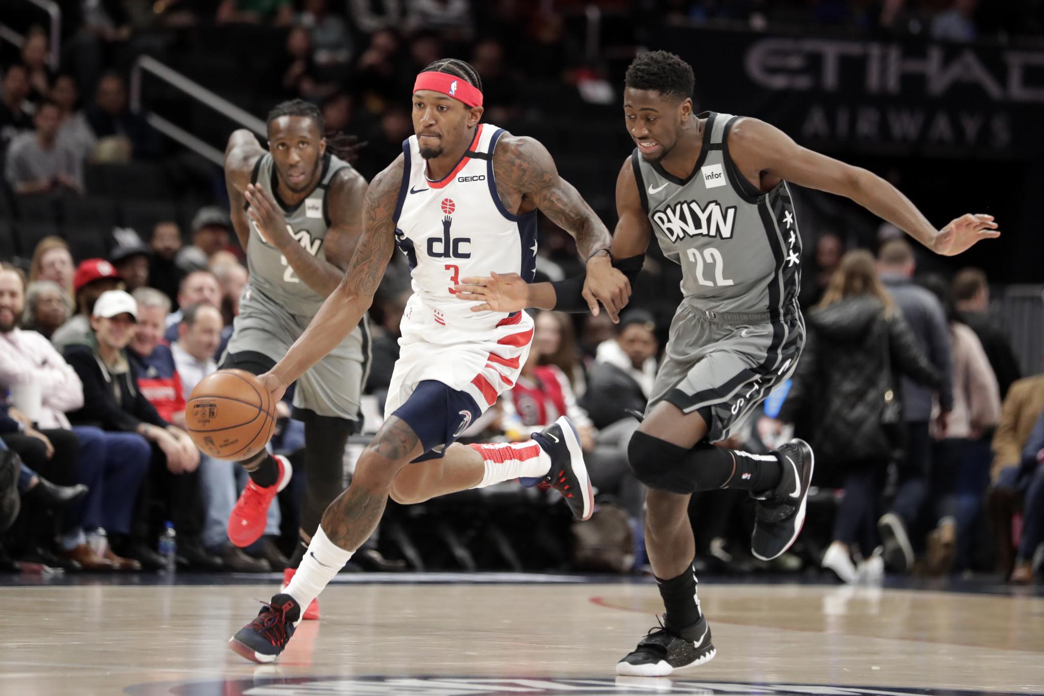 Caris LeVert outduels Bradley Beal, but Wizards thwart Nets' comeback effort