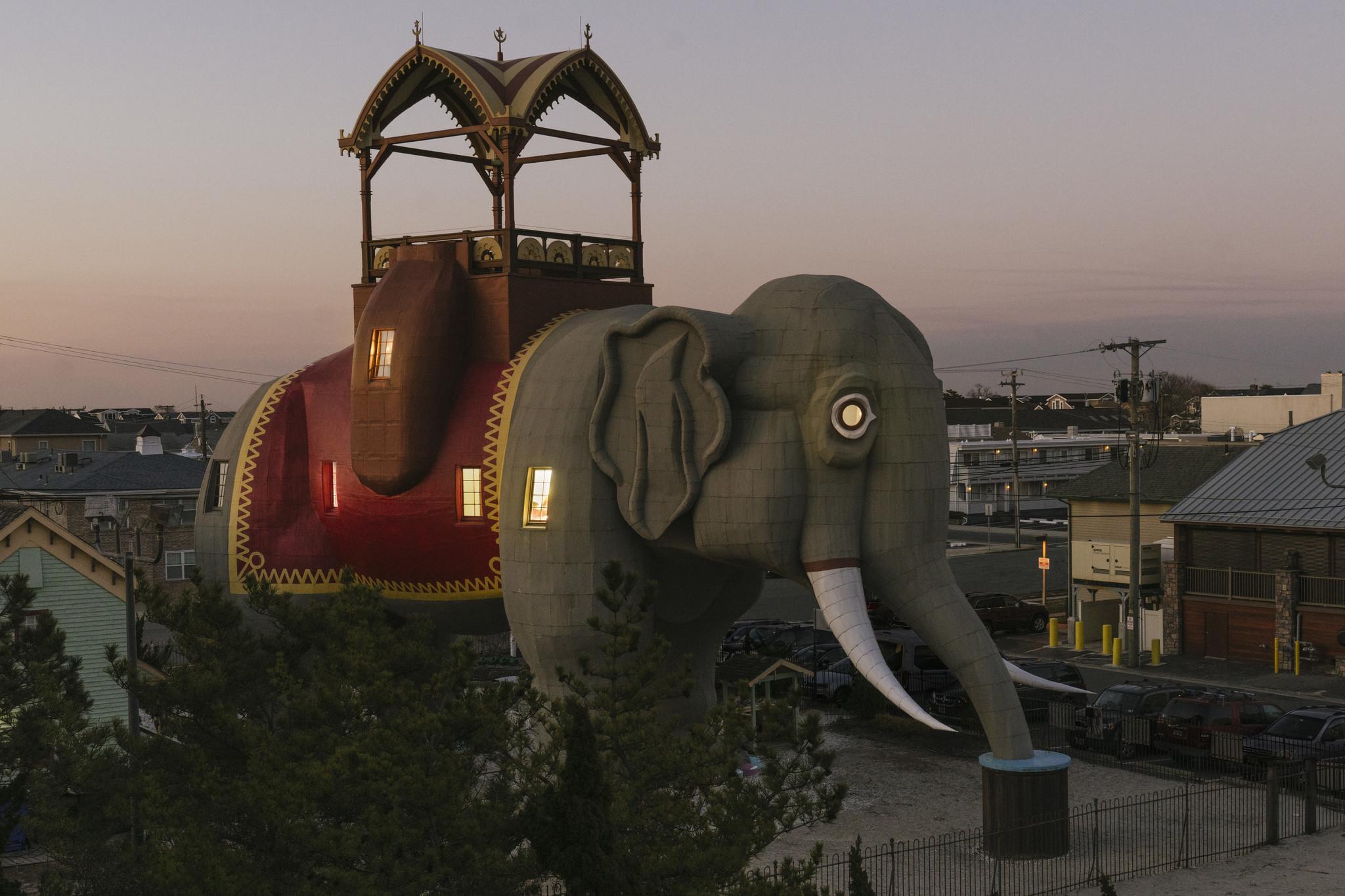 You can now sleep inside a giant landmark elephant on the Jersey Shore
