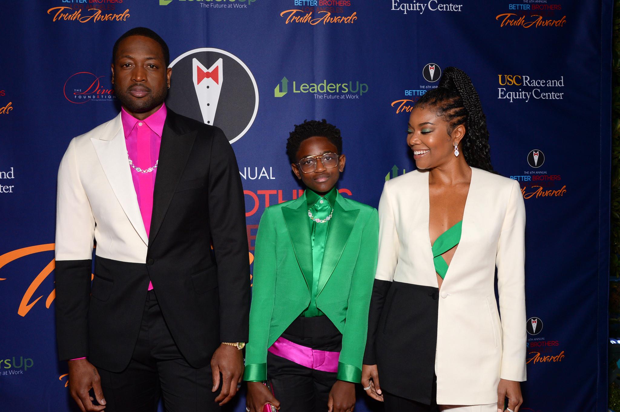 Dwyane Wade's daughter Zaya walks first red carpet alongside former Heat star and Gabrielle Union