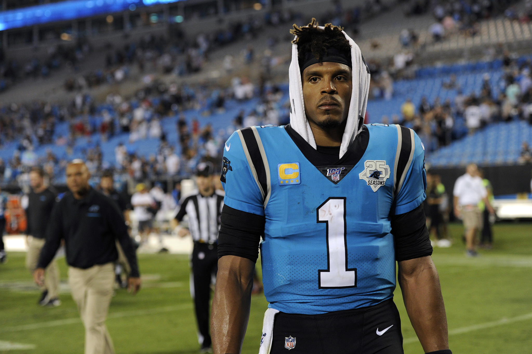 Unclear where once 'unstoppable' Cam Newton lands next after Panthers release