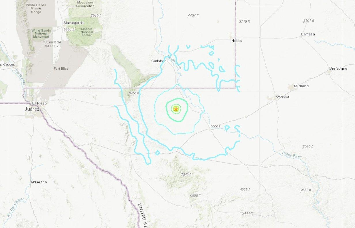 5.0-magnitude earthquake felt in West Texas, Mexico