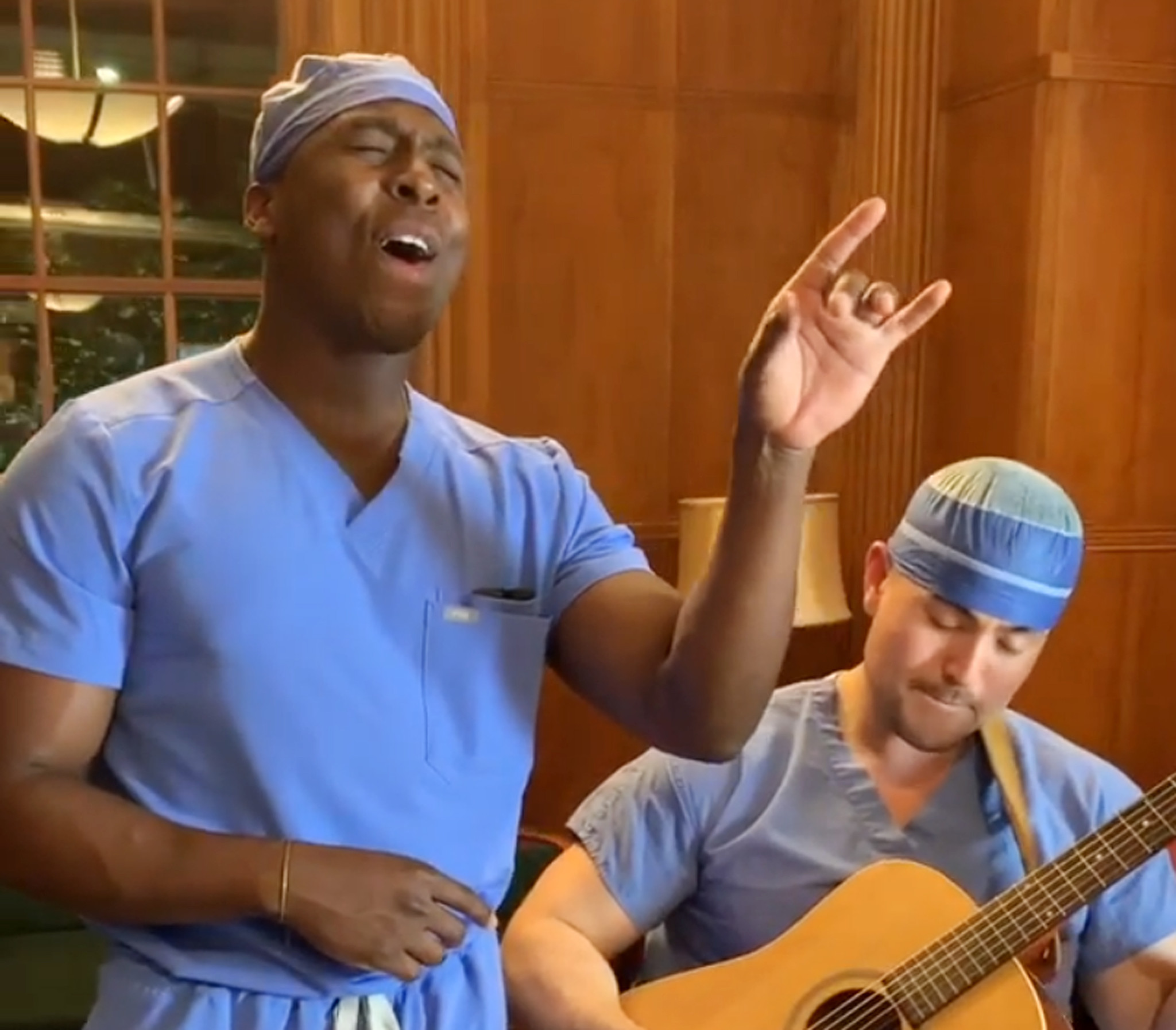 'Singing Surgeon' Elvis Francois goes viral during the coronavirus crisis