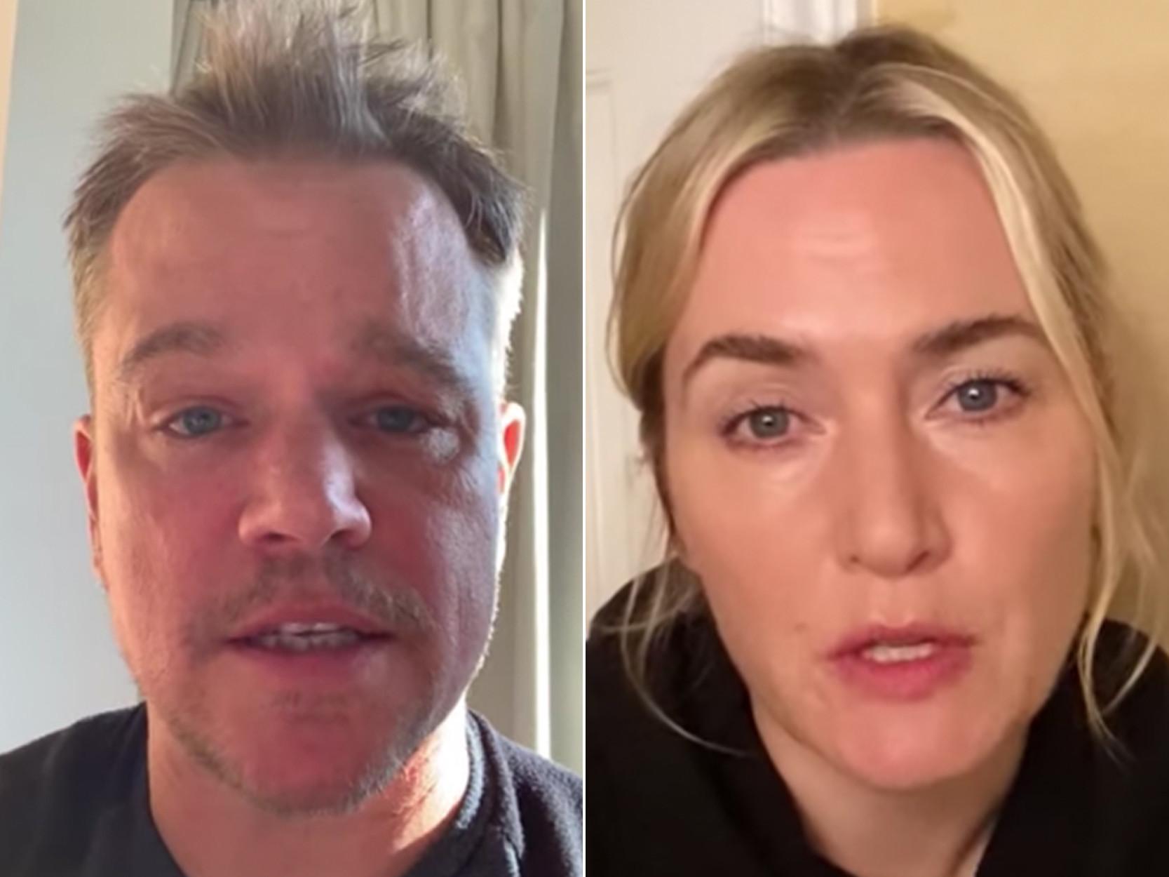 Stars of 'Contagion' reunite for coronavirus advice videos