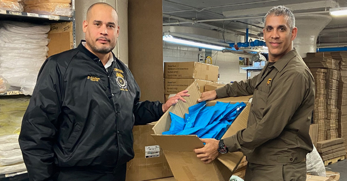 HOMETOWN HELPERS: UPS driver in NYC secures thousands of medical masks to protect coworkers and customers from coronavirus