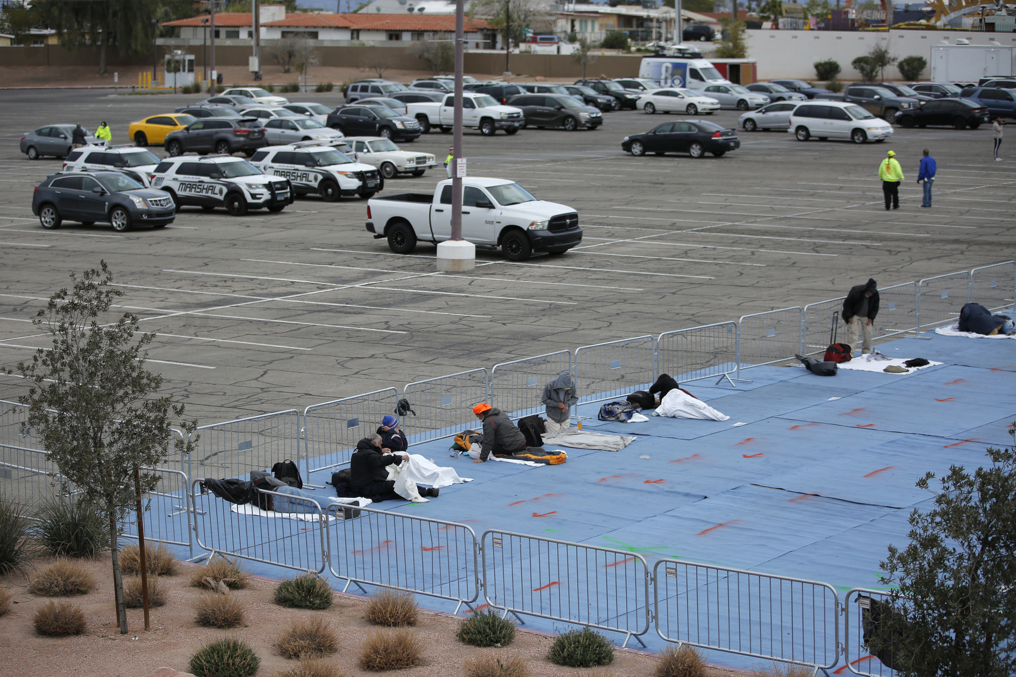 As Vegas hotels sit empty, the city's homeless sleep in parking lots during coronavirus pandemic