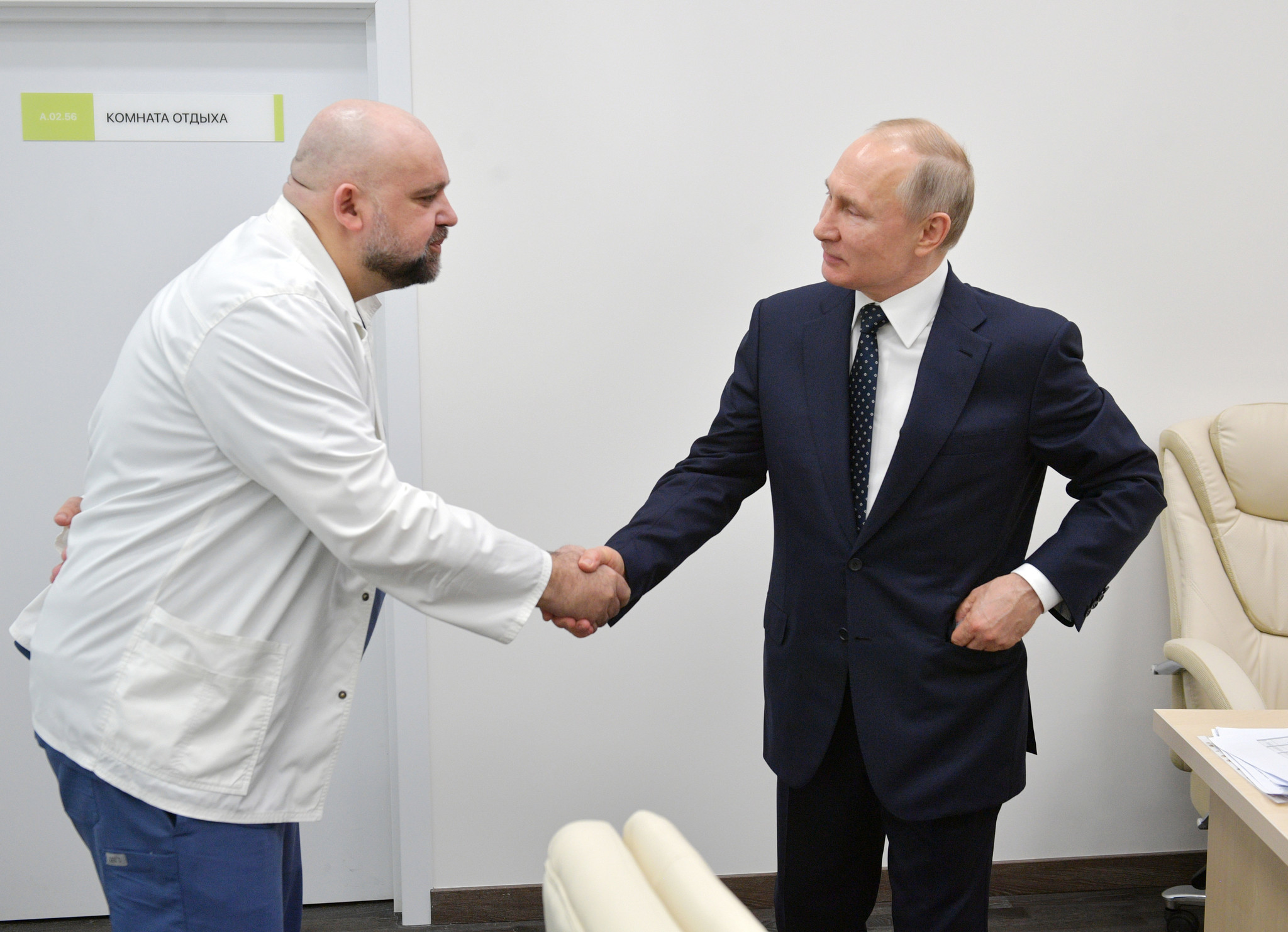Russian doctor says he has tested positive for coronavirus days after meeting with Vladimir Putin