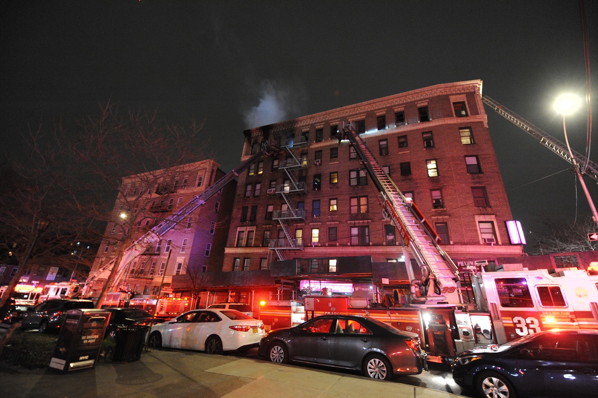 Three-alarm fire rips through Bronx building; injuries include one critically wounded resident