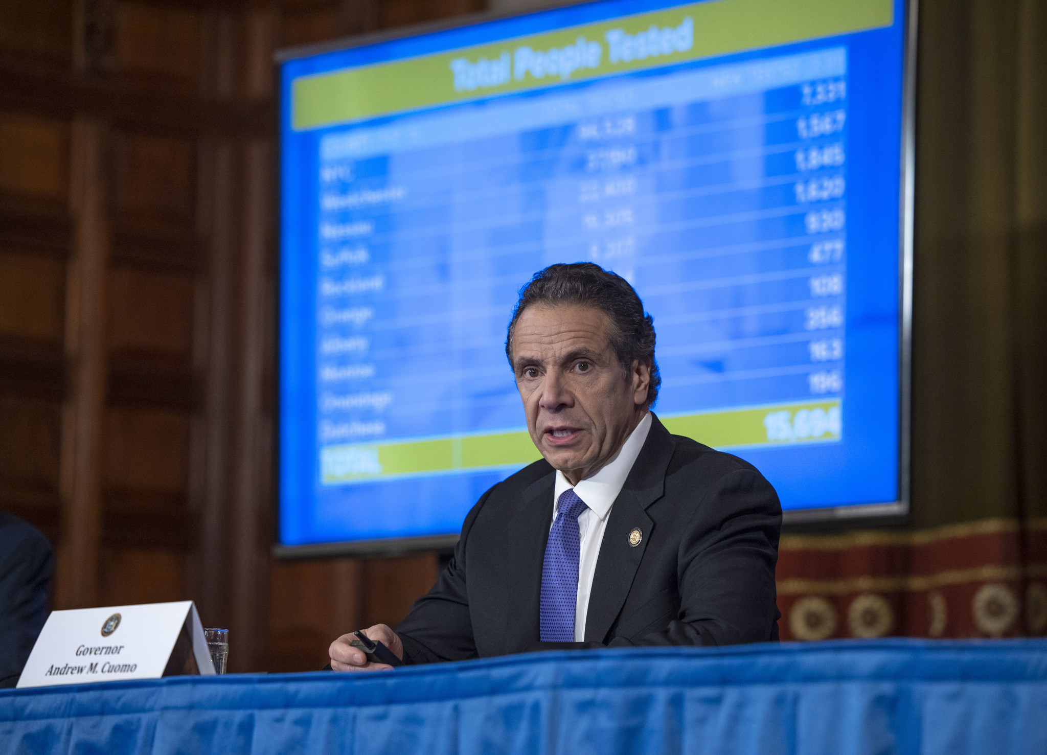 Gov. Cuomo projects 16,000 New Yorkers could die from coronavirus, as state...