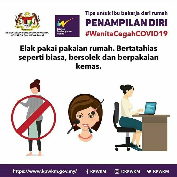Malaysian women reminded to stay pretty and behave while their husbands are quarantined during the pandemic